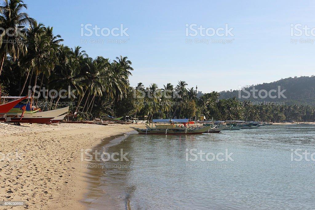 beautiful tropical beach - amazing Palawan, Philippines stock photo