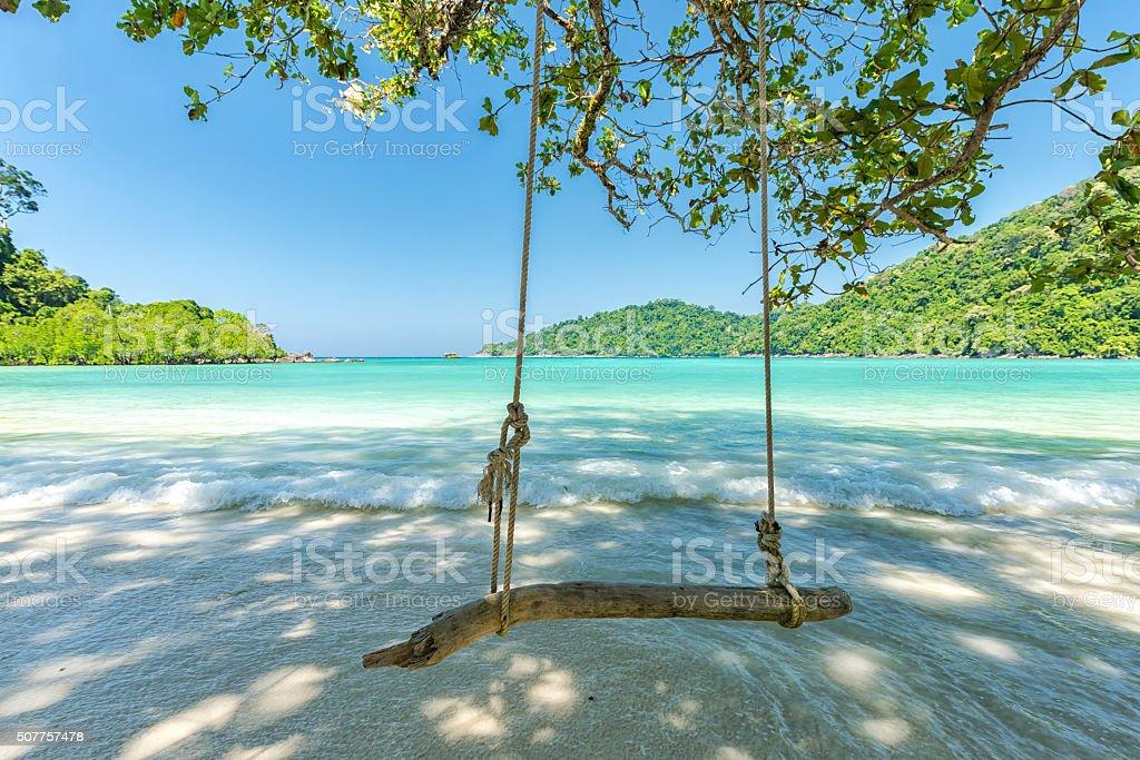 Beautiful tropical beach at Surin Island , Thailand stock photo