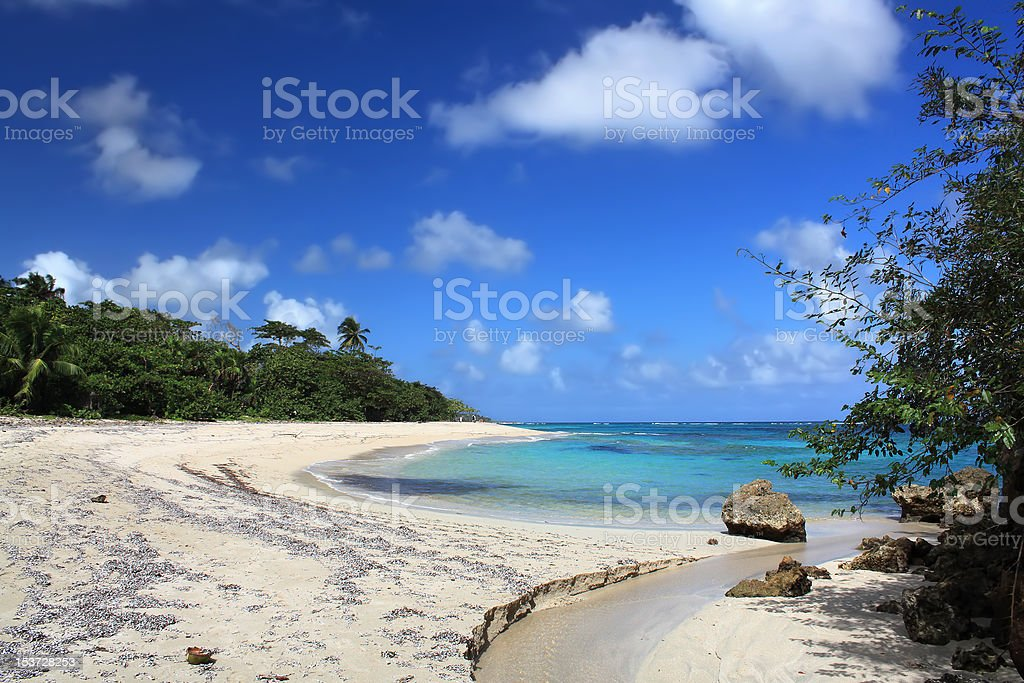 Beautiful tropical beach, Cuba stock photo
