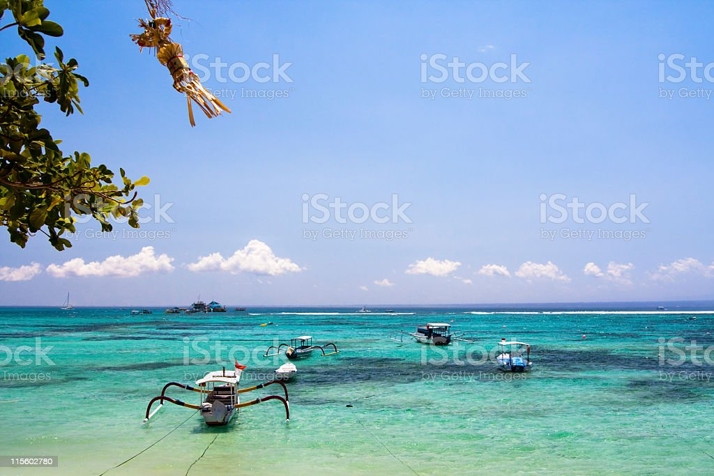 Beautiful tropical beach - Diving snorkeling paradise, Lembongan island, Bali stock photo