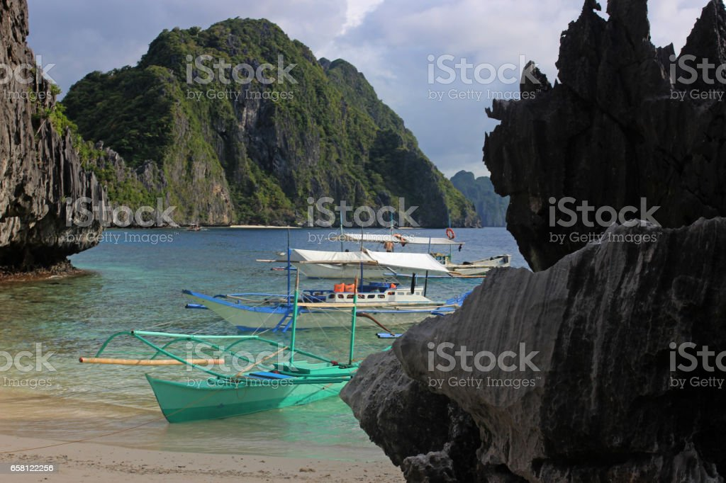beautiful tropical beach - El Nido, Philippines stock photo