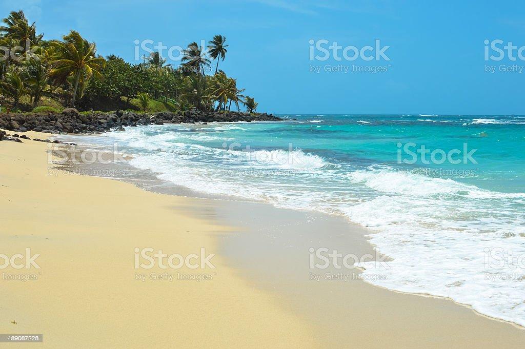 Beautiful tropical beach on the Caribbean Sea, Nicaragua stock photo