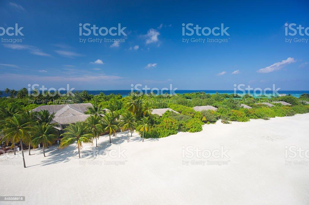 beautiful tropical island hideaway stock photo