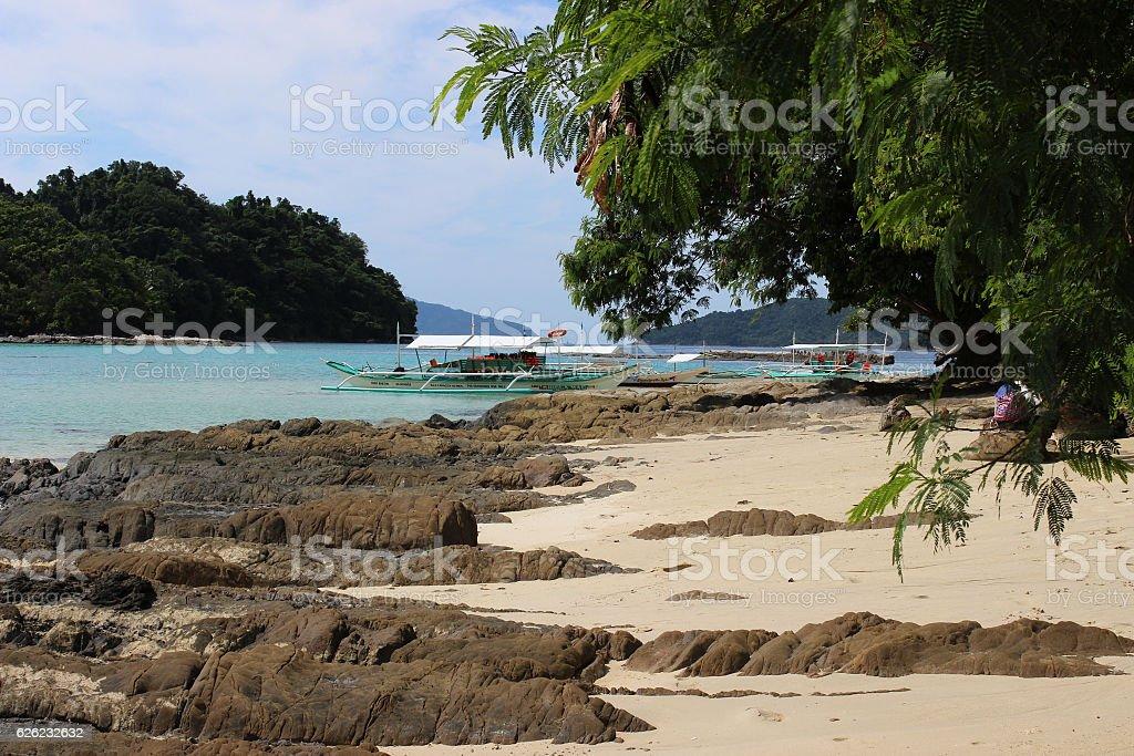 beautiful tropical islands - amazing Palawan, Philippines stock photo
