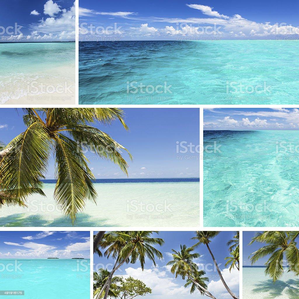 Beautiful Tropical islands stock photo