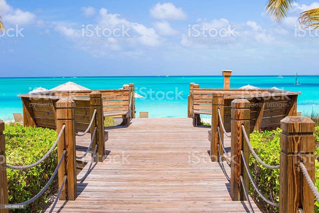 Beautiful tropical landscape view on exotic isalnd stock photo