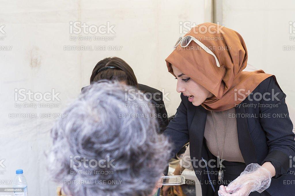 Beautiful Turkish woman royalty-free stock photo