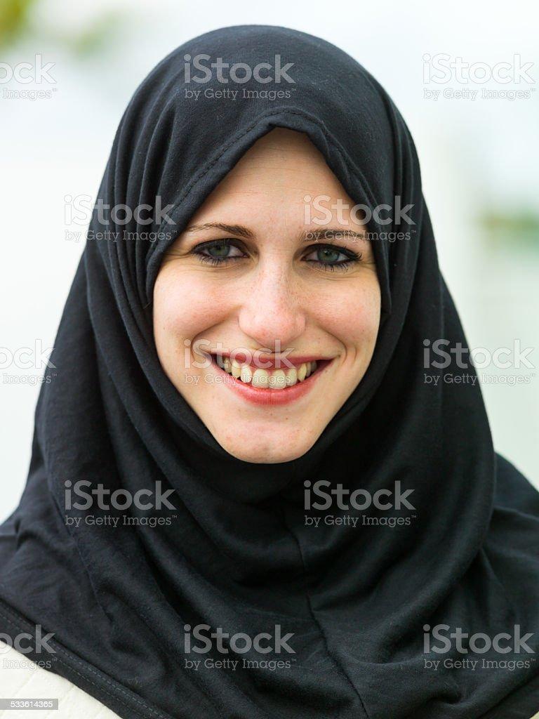 Beautiful turkish woman stock photo