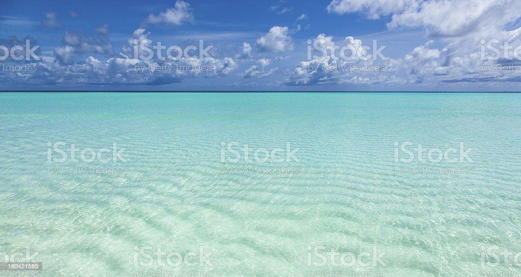beautiful turquoise sea royalty-free stock photo