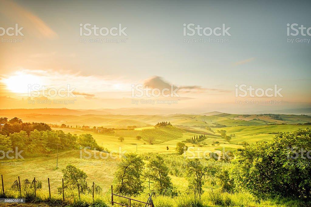 Beautiful tuscan landscape view stock photo