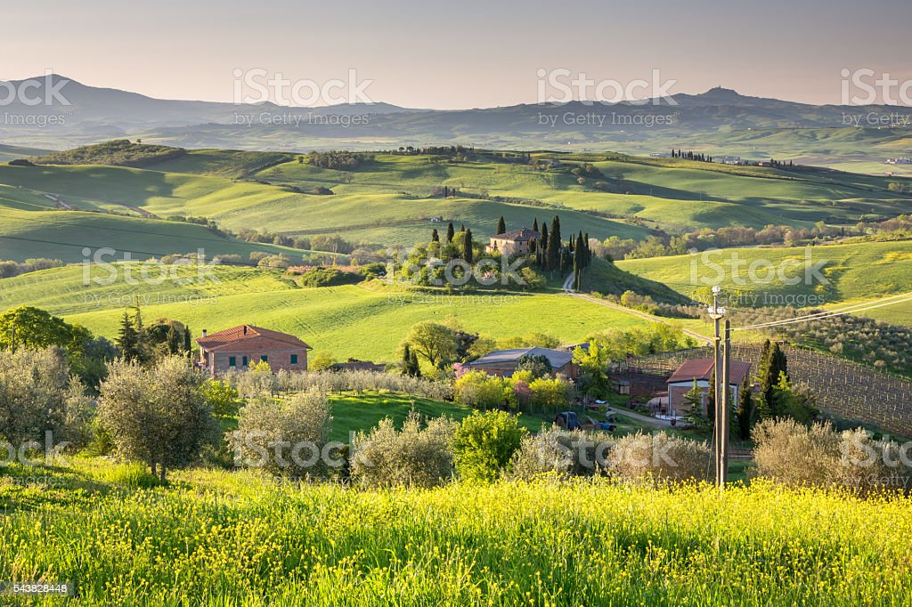 Beautiful Tuscany, Italy stock photo