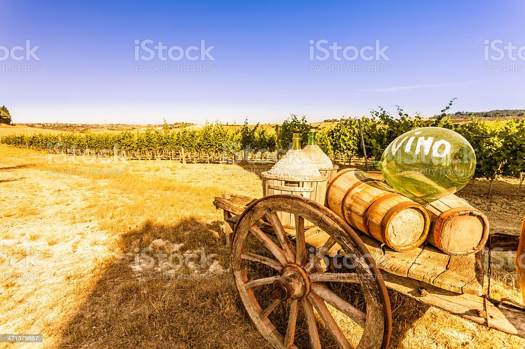 Beautiful Tuscany Landscape in Chianti Region royalty-free stock photo