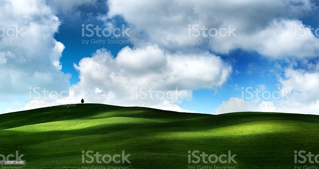 Beautiful Tuscany stock photo
