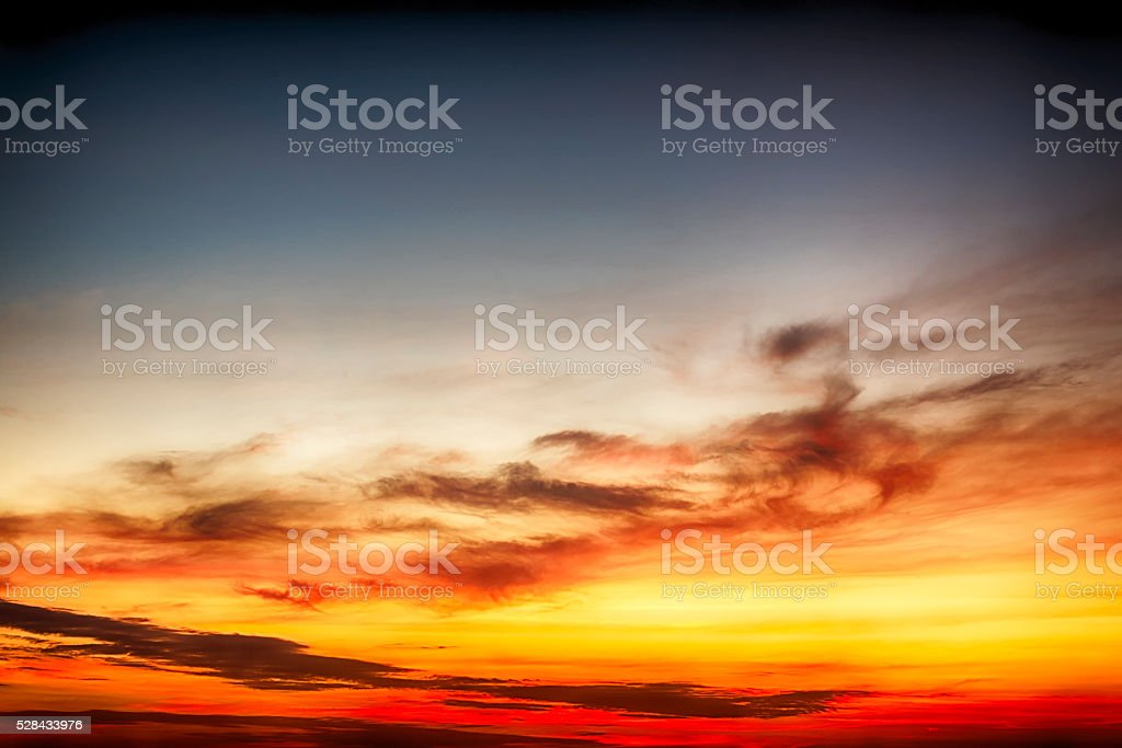 Beautiful twilight skys and cloud stock photo