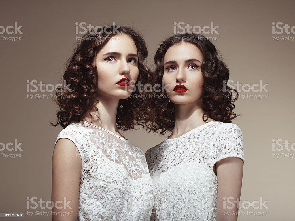 Beautiful twins royalty-free stock photo