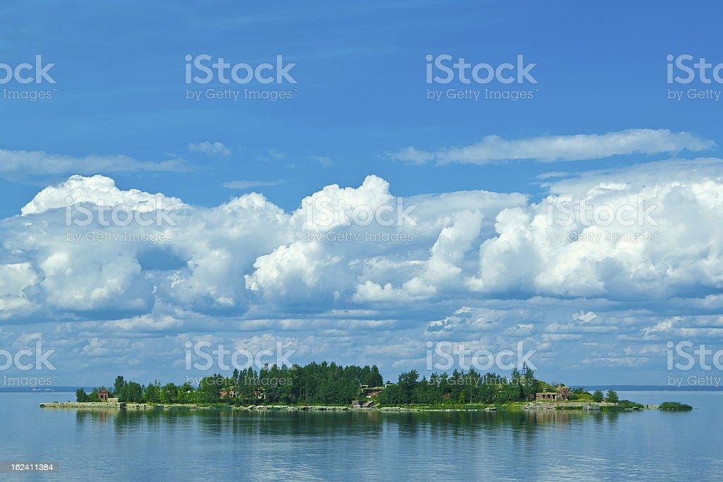 Beautiful uninhabited island royalty-free stock photo