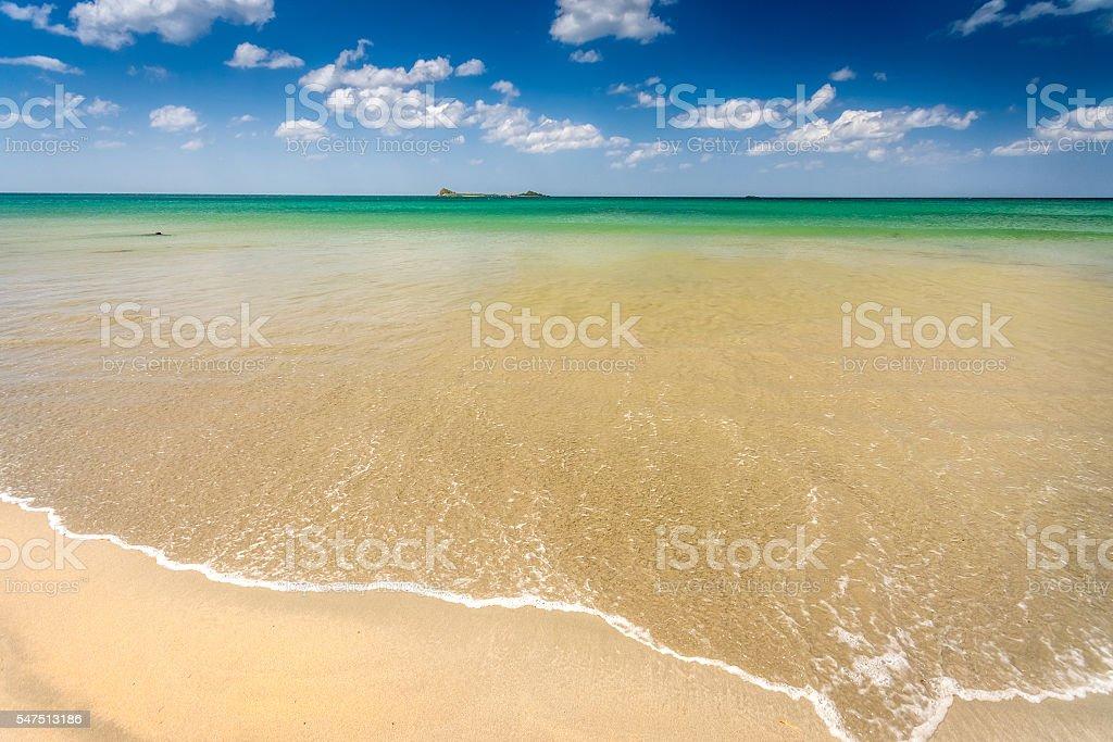 Beautiful untouched beach at Nilaveli, Trincomalee Sri Lanka stock photo