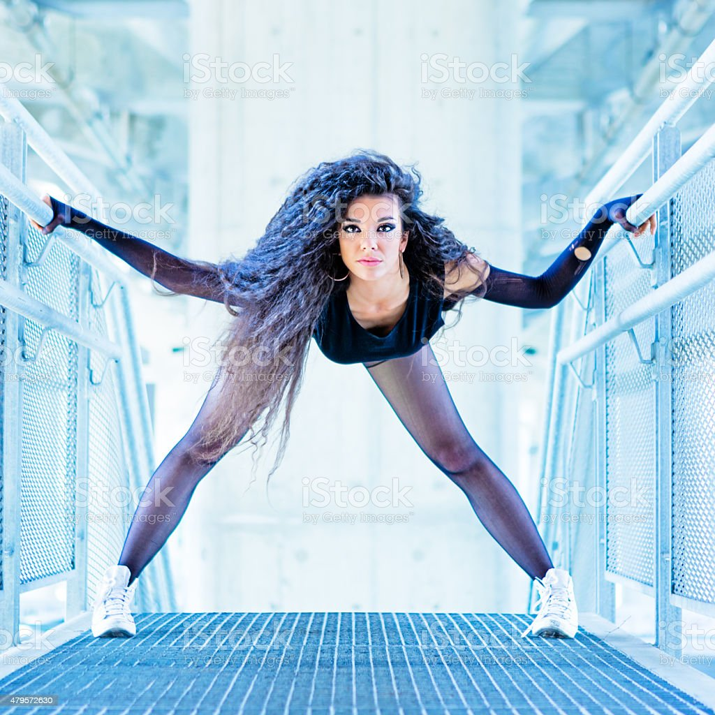 Beautiful urban dancer stock photo