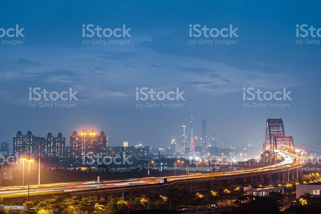 Beautiful urban night stock photo