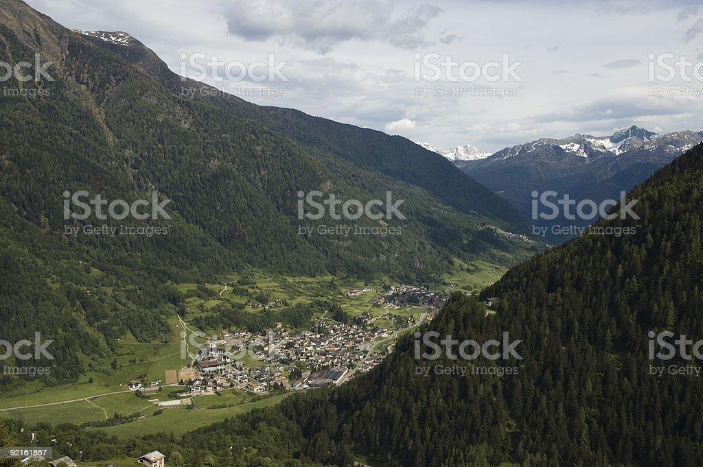 Beautiful valley in tirol. stock photo