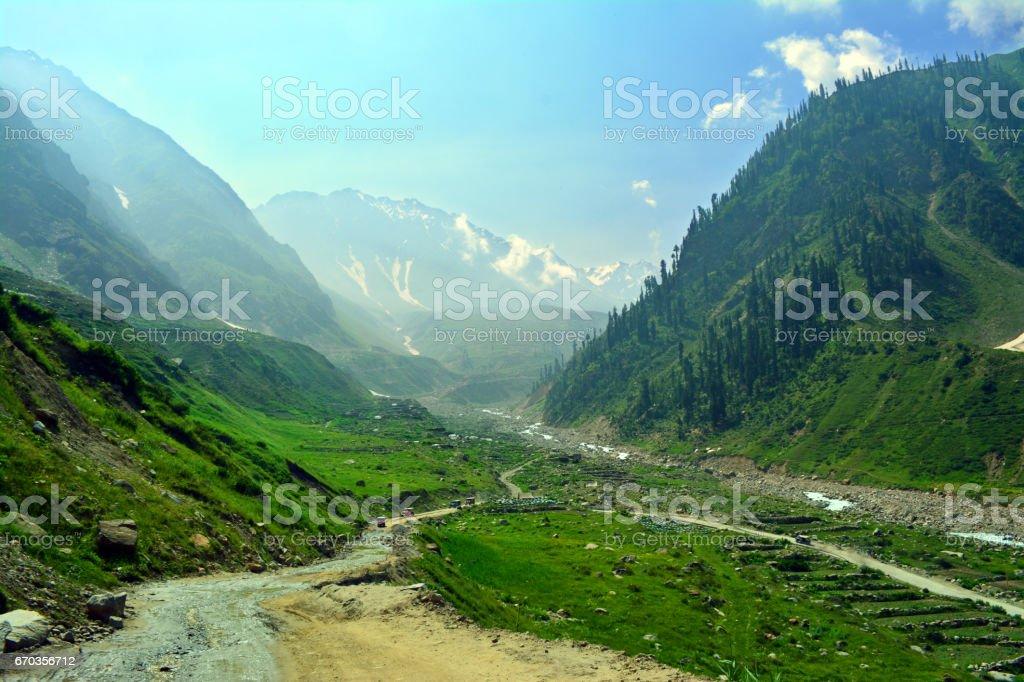 Beautiful Valley Naran Kaghan Pakistan stock photo