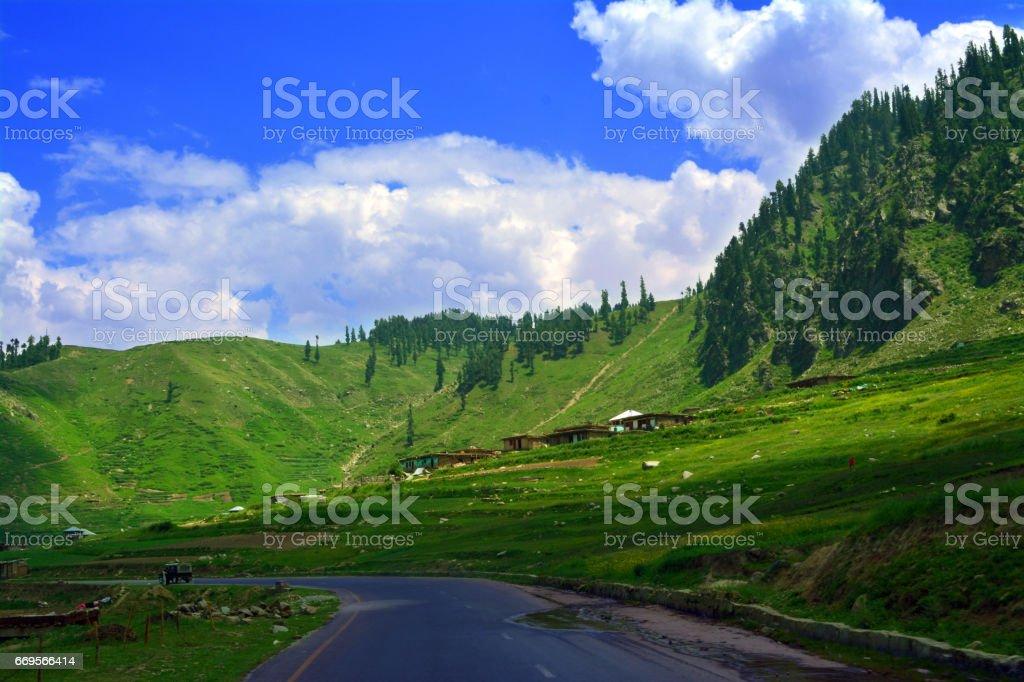 Beautiful Valley Naran Kaghan stock photo