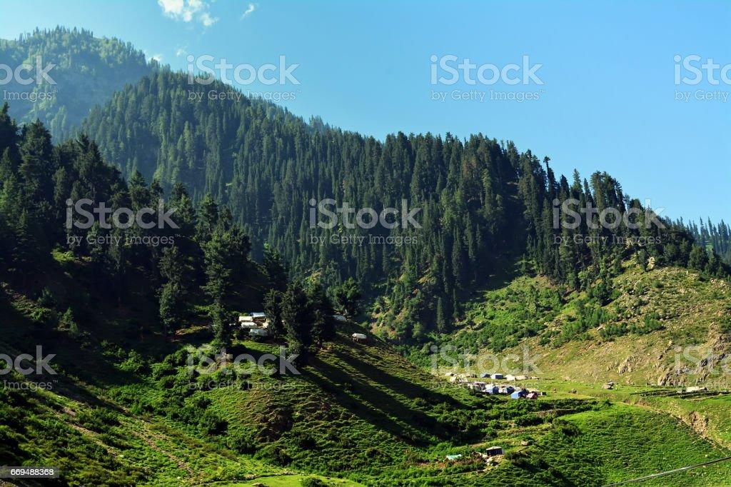 Beautiful Valley Naran stock photo
