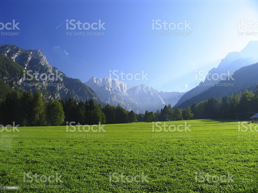 Beautiful valley stock photo