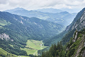 beautiful valleys in the mountains of Austria