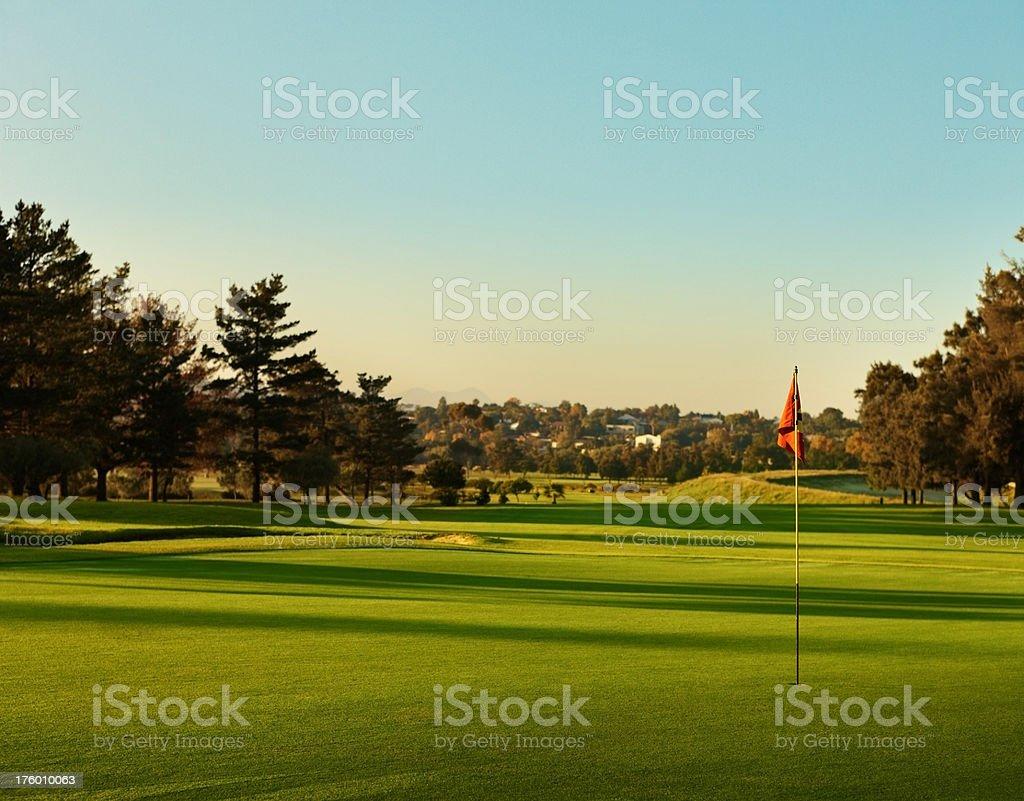 Beautiful vast golf course royalty-free stock photo