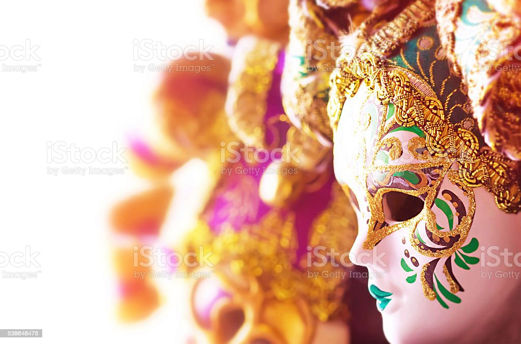 Beautiful Venetian masks stock photo