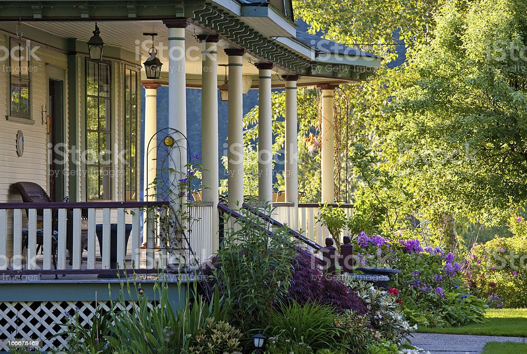 A beautiful Victorian veranda royalty-free stock photo