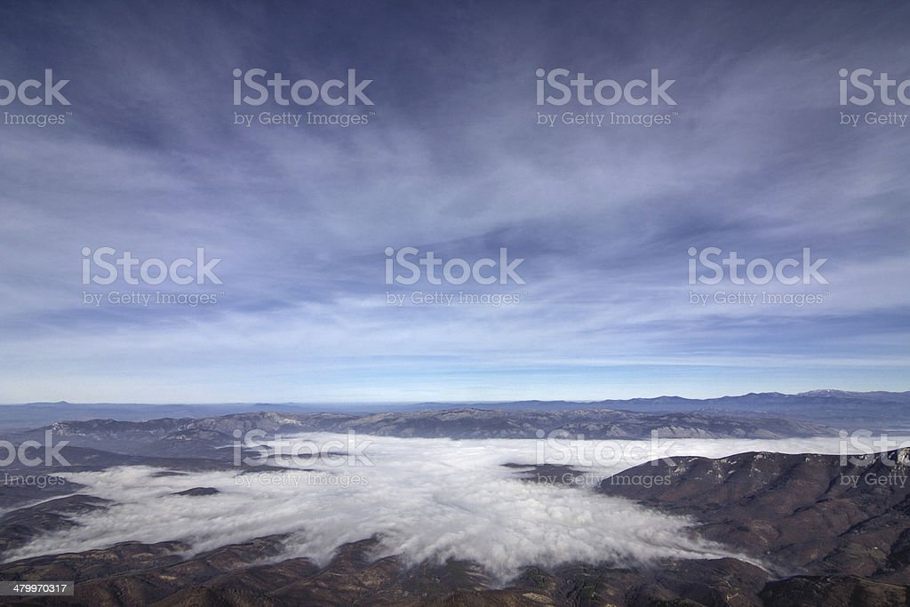 beautiful view above clouds royalty-free stock photo