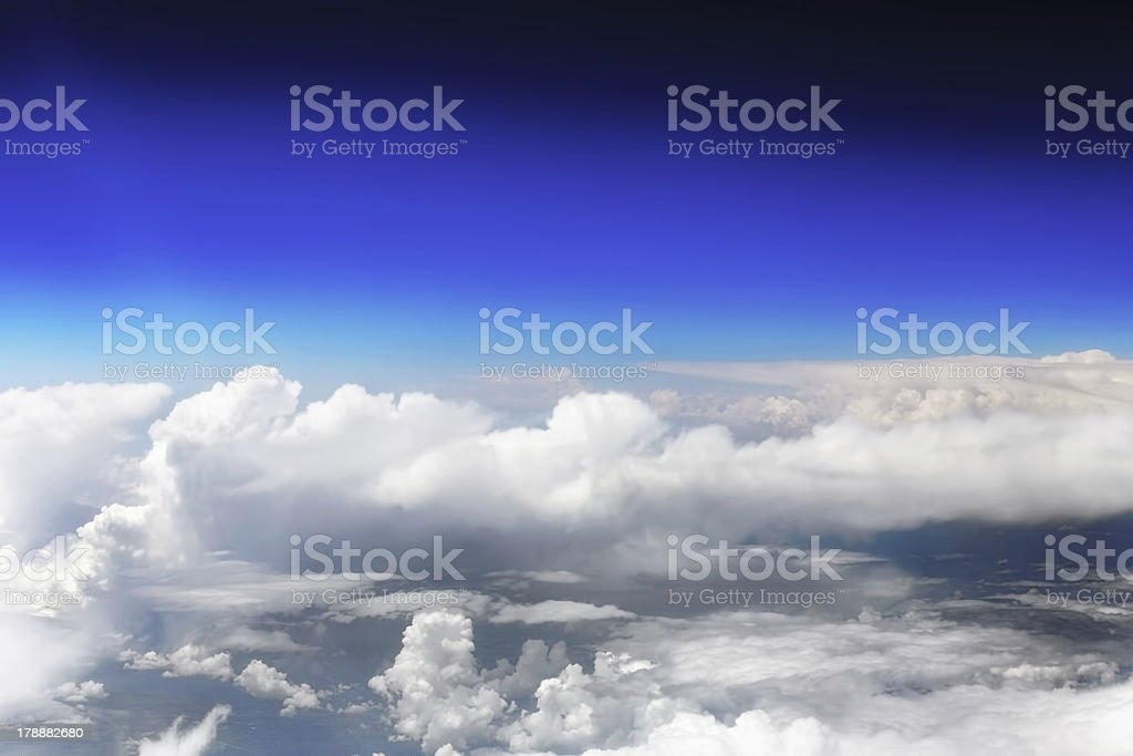 Beautiful view above the clouds. royalty-free stock photo