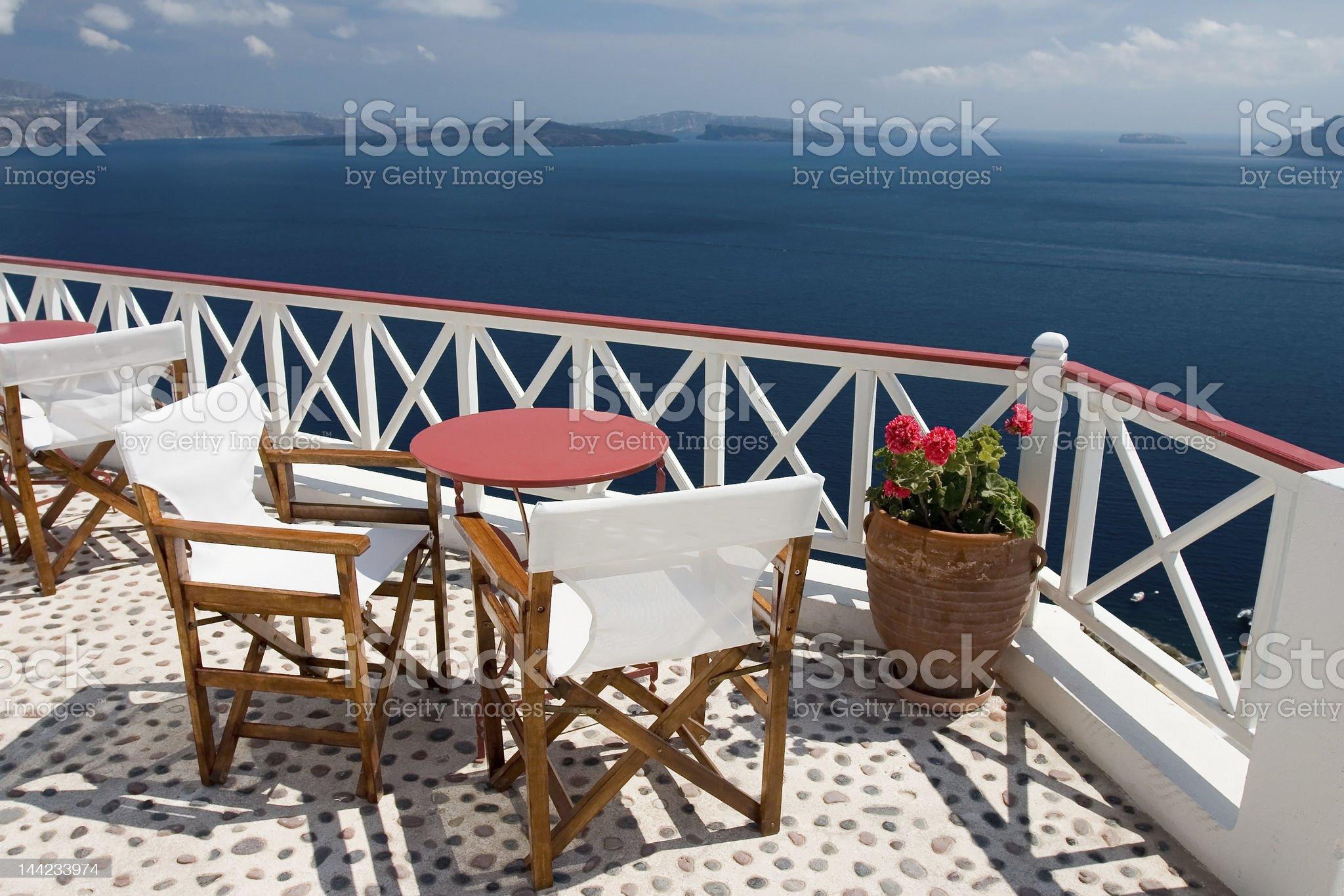 Beautiful view from balcony royalty-free stock photo