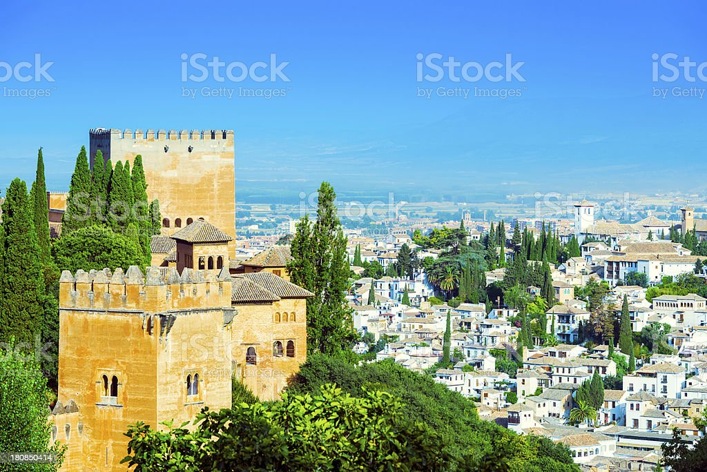 Beautiful view from the Alhambra, Granada royalty-free stock photo