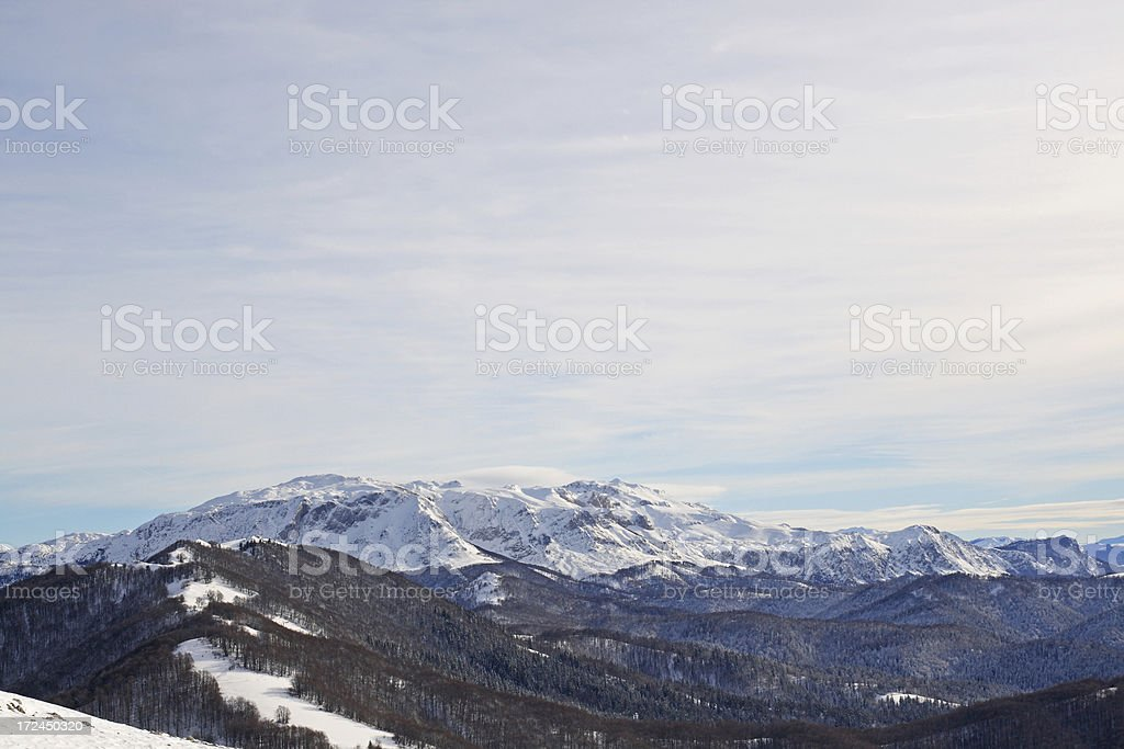 Beautiful view from the top of mountain royalty-free stock photo