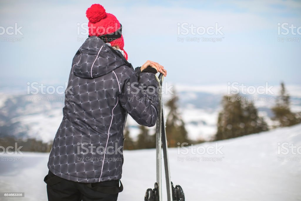 Beautiful view from the top of the hill stock photo