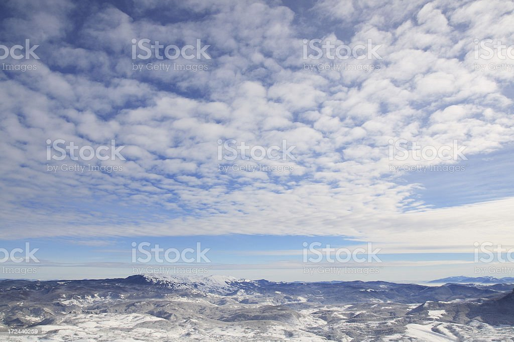 Beautiful view from top of the mountain royalty-free stock photo