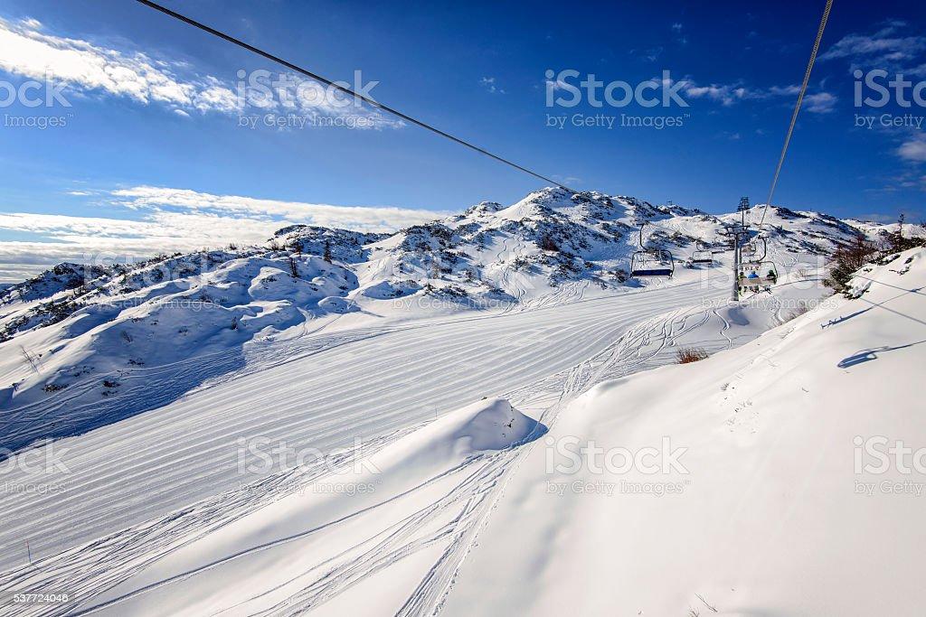 Beautiful view from Vogel Ski resort stock photo