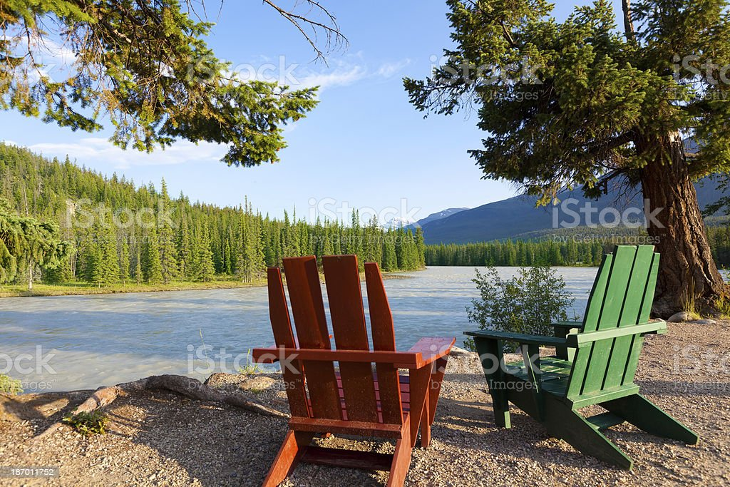 beautiful view in canada stock photo