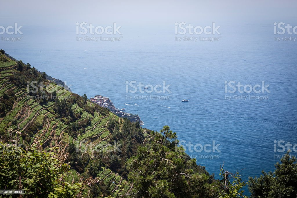 Beautiful view in Cinqueterre in Italy stock photo