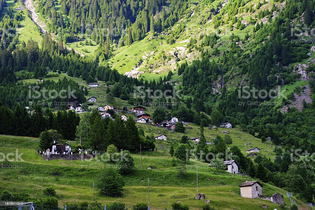 Beautiful view in Swiss Alps royalty-free stock photo