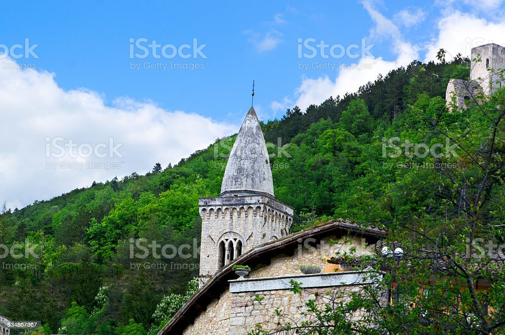 Beautiful view Italy in the high mountains stock photo