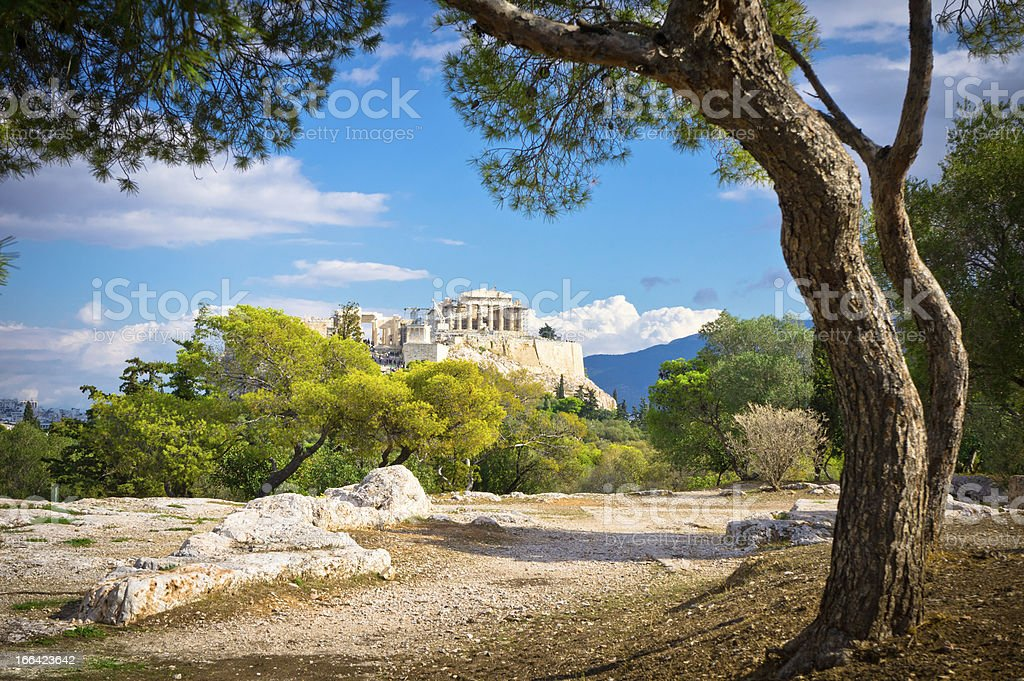 Beautiful view of Acropolis in Athens, Greece stock photo