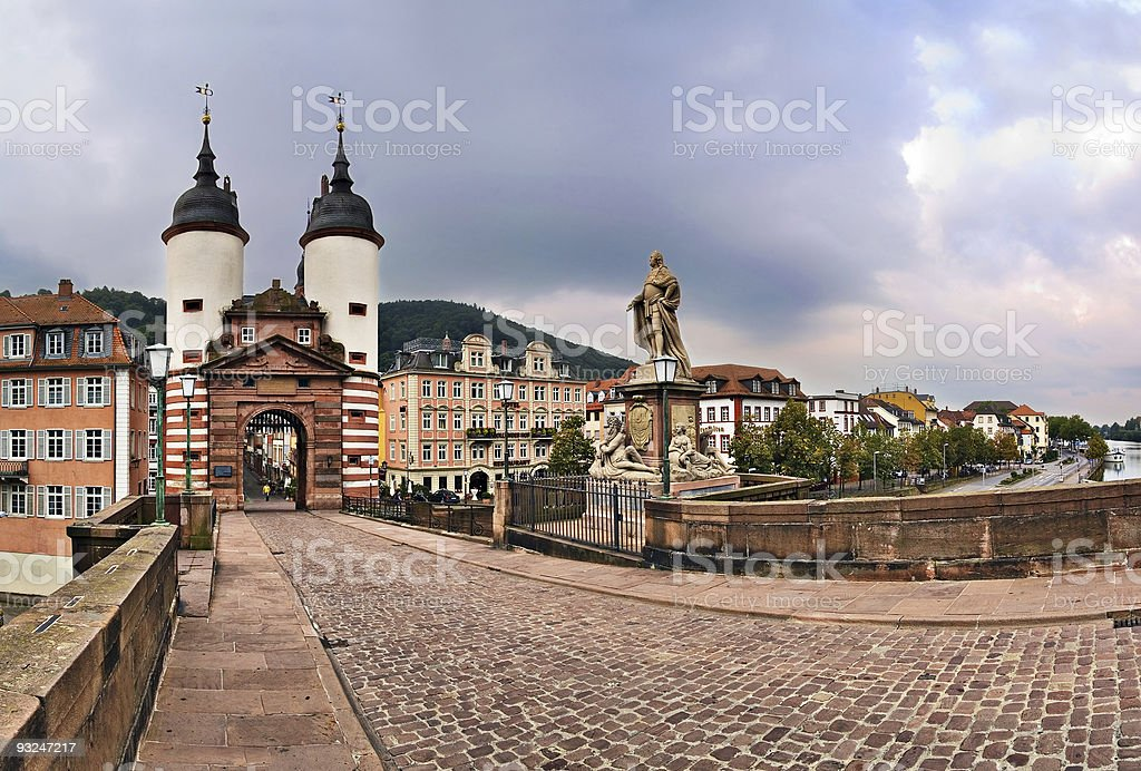A beautiful view of Alte Brucke stock photo