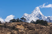 Beautiful view of Ama Dablam from Namche Bazaar