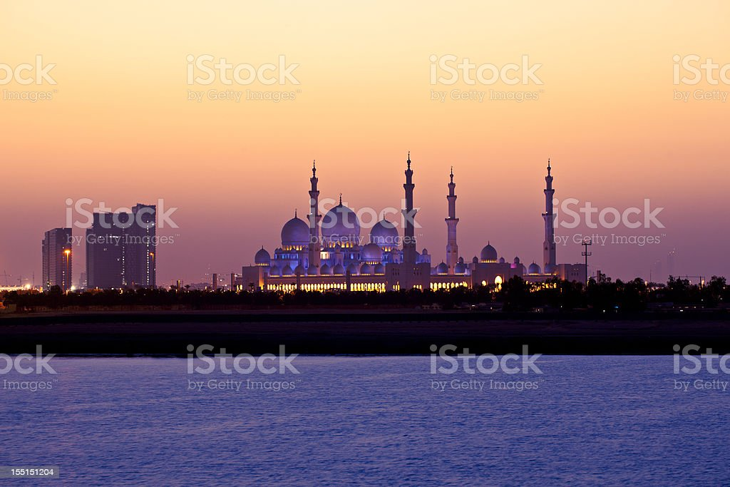 A beautiful view of an Arabian sunset stock photo