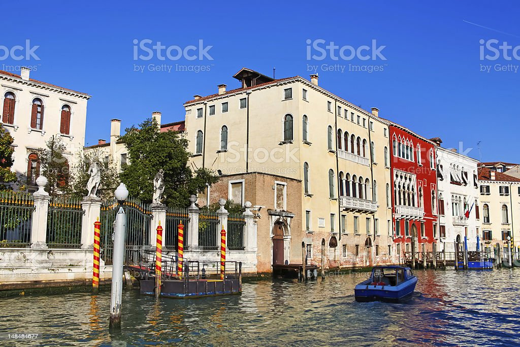 Beautiful view of architecture in Venice stock photo