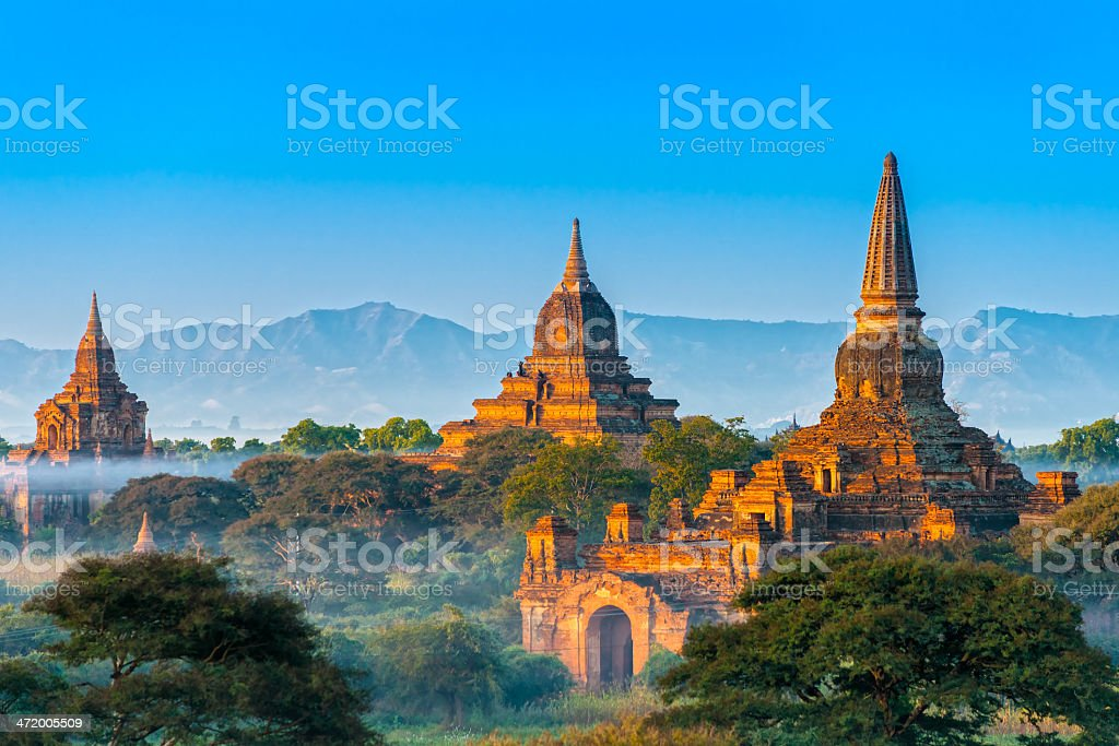 Beautiful view of Bagan, Myanmar stock photo
